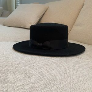 """Lack of Color """"The Muse"""" Boater hat"""